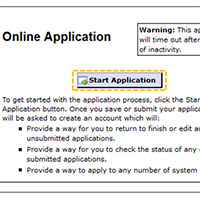 Click Start Application