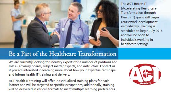 Be a Part of the Healthcare Transformation