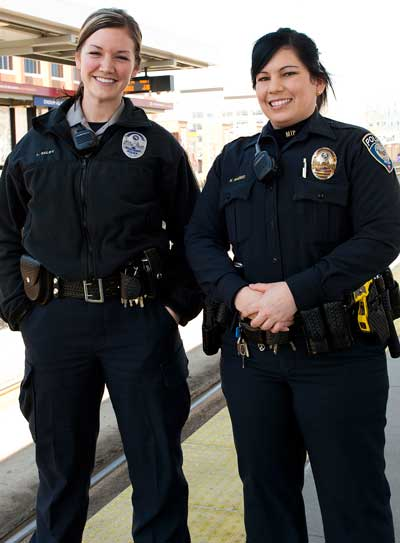 Lindsay Selby, Community Service Office and Kelly Franco, Patrol Officer