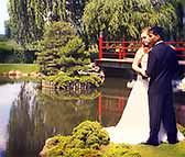 Bridal Photos in the Japanese Garden at Normandale
