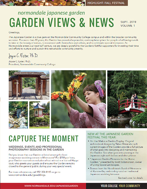 Japanese Garden newsletter cover