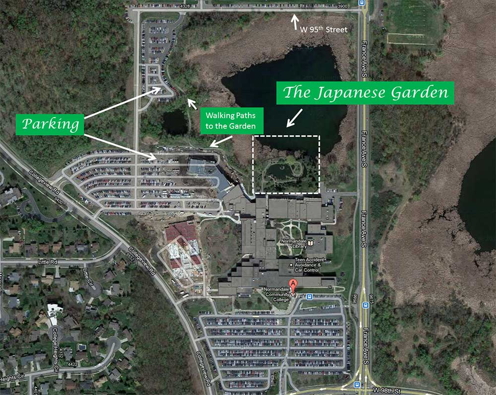 Map To The Japanese Garden At Normandale Community College