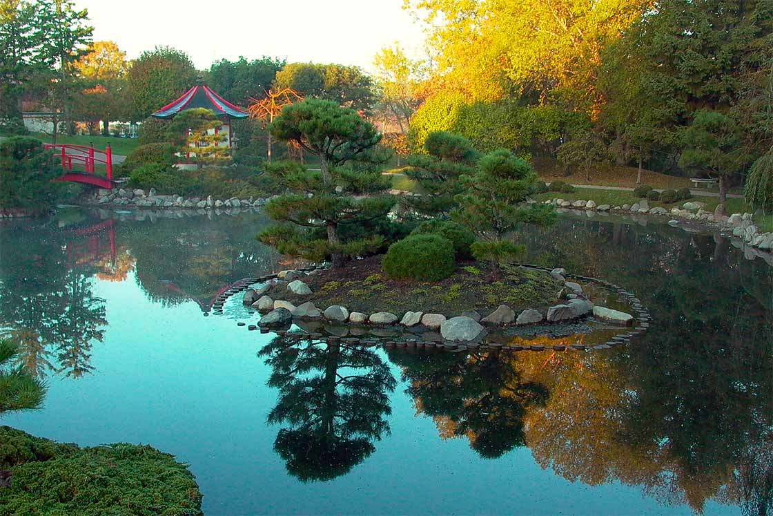 The Japanese Garden at Normandale Community College. Enlarge Image