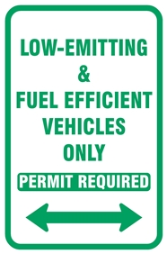 Low-emitting and Fuel Efficent Vehicles Only