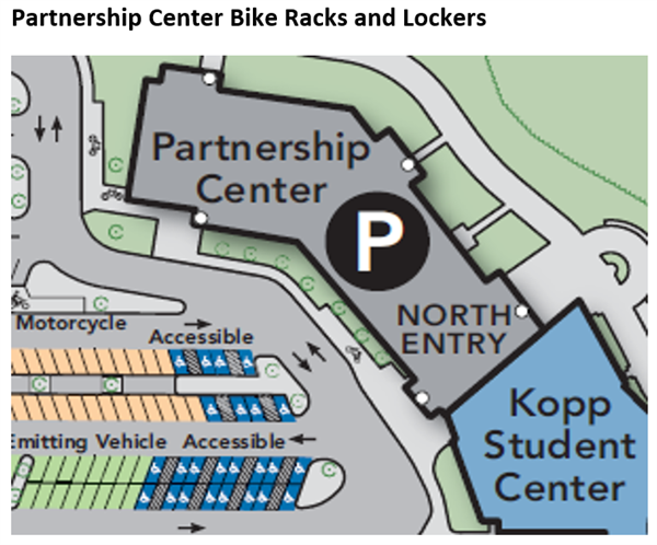 Partnership Center bike racks