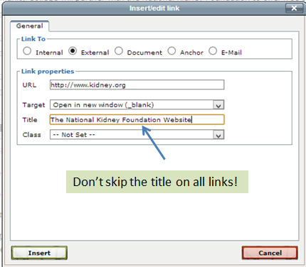 Linking External URLs | Normandale Community College