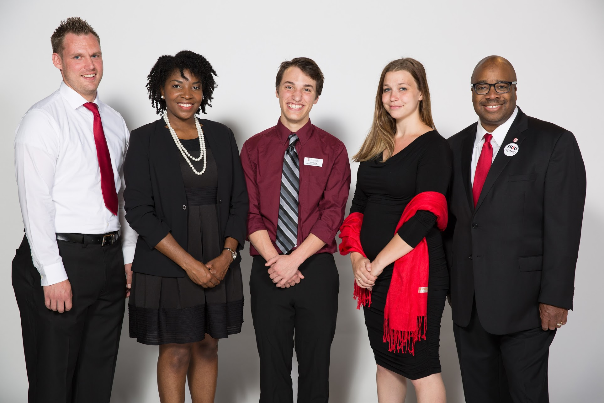 From left to Right: James, Aucuria, Sam (student worker), Heather, and Frederic