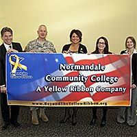 Yellow Ribbon Ceremony at Normandale, Nov. 14, 2013