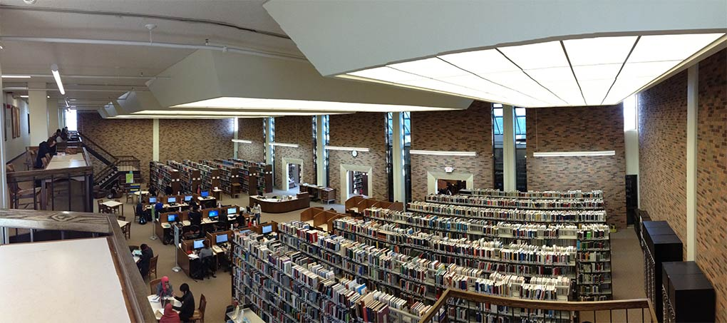 Normandale Community College Library interior.