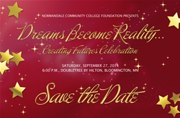 The Normandale Community College Foundation hosts the Creating Futures Celebration gala at Bloomington's Double Tree by Hilton on Saturday, September 27 at 6 p.m.