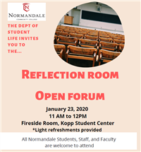 Reflection Room Open Forum