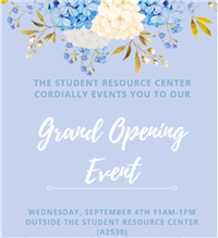 Student Resource Center Grand Opening